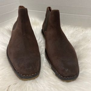 Florsheim Brown Suede Leather Boots Sz.10 3 E